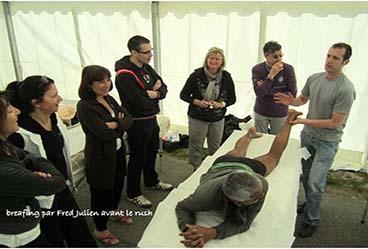 Frédéric JULIEN, cours massage sportif, marathon Annecy